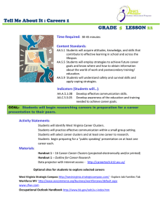 Tell Me About It : Careers 1 GRADE LESSON