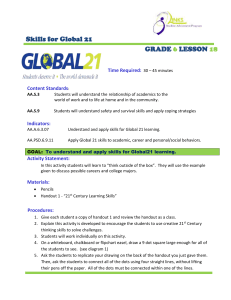 Skills for Global 21  GRADE LESSON