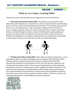 21  What are 21 Century Learning Skills?