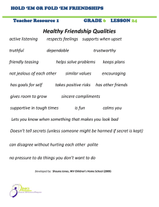 Healthy Friendship