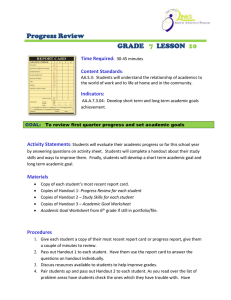 Progress Review  GRADE LESSON