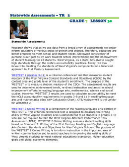 Statewide Assessments – TR   2 GRADE LESSON