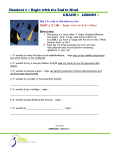 Handout 1 – Begin with the End in Mind GRADE LESSON