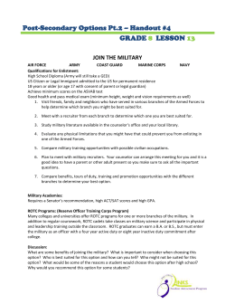 Post-Secondary Options Pt.2 – Handout #4 GRADE LESSON