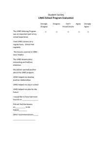 ○ Student Survey LINKS School Program Evaluation
