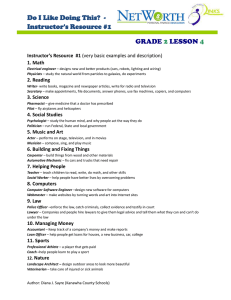 Do I Like Doing This?  - Instructor's Resource #1  GRADE
