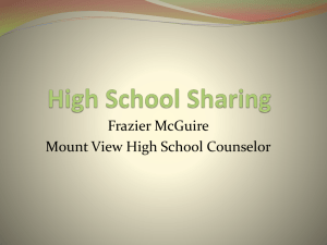 Frazier McGuire Mount View High School Counselor