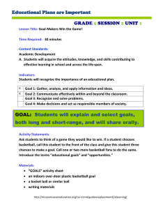 Educational Plans are Important GRADE SESSION UNIT