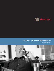 AVOCENT  PROFESSIONAL SERVICES Anytime. Anywhere.