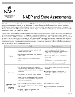 NAEP and State Assessments
