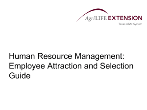 Human Resource Management: Employee Attraction and Selection Guide