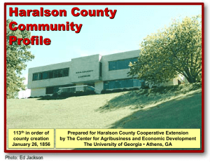 Haralson County Community Profile