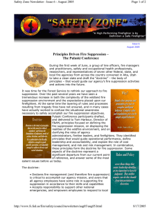 Principles Driven Fire Suppression – The Pulaski Conference Page 1 of 2