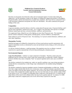 Wildland Fire Chemical Products Toxicity and Environmental Concerns General Information