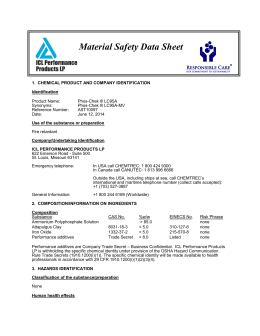 1.  CHEMICAL PRODUCT AND COMPANY IDENTIFICATION Identification Product Name: