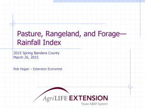 — Pasture, Rangeland, and Forage Rainfall Index
