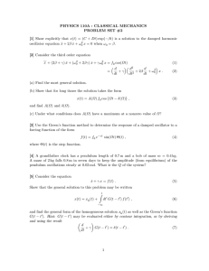 PHYSICS 110A : CLASSICAL MECHANICS PROBLEM SET #2