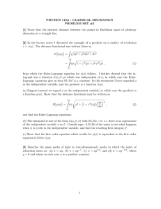 PHYSICS 110A : CLASSICAL MECHANICS PROBLEM SET #3