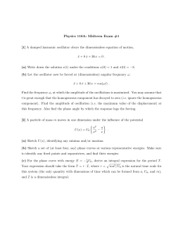 Physics 110A: Midterm Exam #1