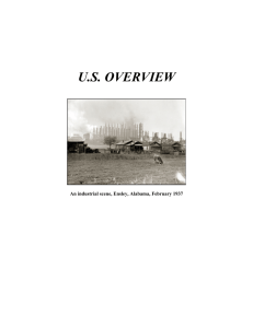 U.S. OVERVIEW An industrial scene, Ensley, Alabama, February 1937