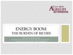 ENERGY BOOM: THE BURDEN OF RICHES