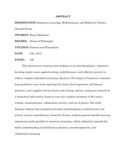 Abstract in dissertation