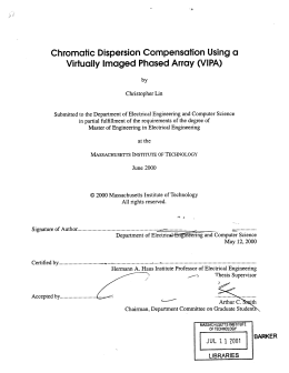 Chromatic  Dispersion Compensation  Using a