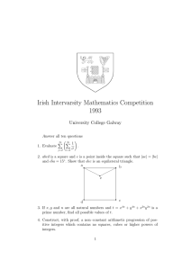 Irish Intervarsity Mathematics Competition 1993 University College Galway