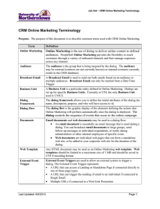 CRM Online Marketing Terminology audiences. Online Marketing