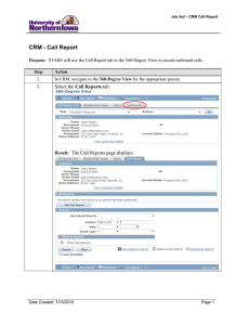 CRM - Call Report Call Reports Result: