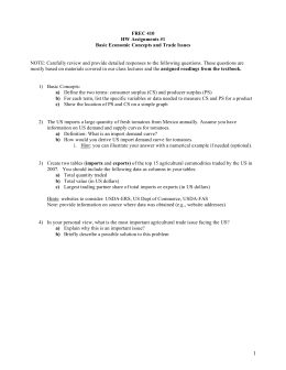 FREC 410 HW Assignments #1 Basic Economic Concepts and Trade Issues