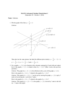 MA1311 (Advanced Calculus) Tutorial sheet 1 Name: Solutions 1