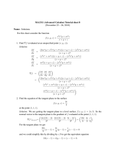 MA1311 (Advanced Calculus) Tutorial sheet 8 [November 25 – 26, 2010]