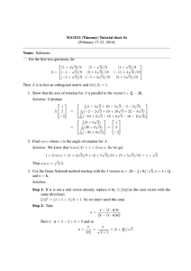 MA1S12 (Timoney) Tutorial sheet 5a [February 17–21, 2014] Name: Solutions