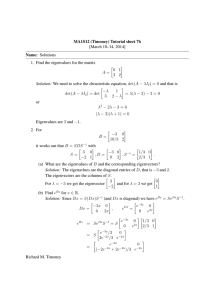 MA1S12 (Timoney) Tutorial sheet 7b [March 10–14, 2014] Name: Solutions