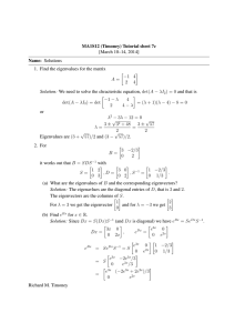 MA1S12 (Timoney) Tutorial sheet 7c [March 10–14, 2014] Name: Solutions