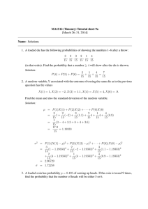MA1S12 (Timoney) Tutorial sheet 9a [March 26–31, 2014] Name: Solutions