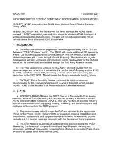 DAMO-FMF 1 December 2001 MEMORANDUM FOR RESERVE COMPONENT COORDINATION COUNCIL (RCCC)