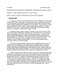 AFOP-TRI  20 November 2001 MEMORANDUM FOR RESERVE COMPONENT COORDINATION COUNCIL (RCCC)