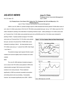 AG-ECO NEWS Jose G. Peña Professor & Ext. Economist-Management