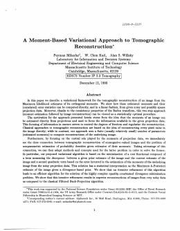 A  Moment-Based  Variational  Approach  to ... Reconstruction*