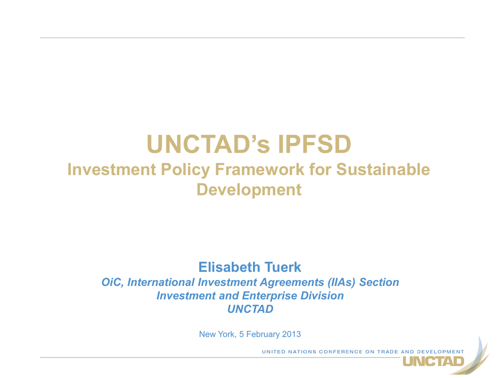Investment policy hub unctad handbook bhagyodaya investment banker