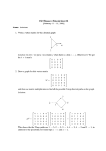 1S2 (Timoney) Tutorial sheet 12 [February 11 – 15, 2008] Name: Solutions