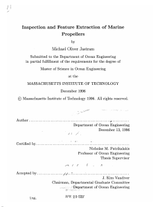 Inspection  and  Feature Extraction of  Marine Propellers