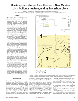 Mississippian strata of southeastern New Mexico: distribution, structure, and hydrocarbon plays