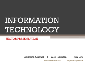 INFORMATION TECHNOLOGY SECTOR PRESENTATION