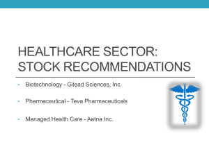 HEALTHCARE SECTOR: STOCK RECOMMENDATIONS .