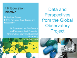 Data and Perspectives from the Global Observatory