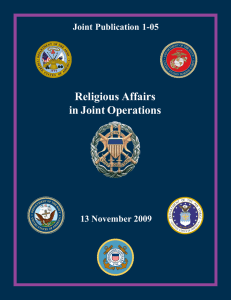 Religious Affairs in Joint Operations Joint Publication 1-05 13 November 2009