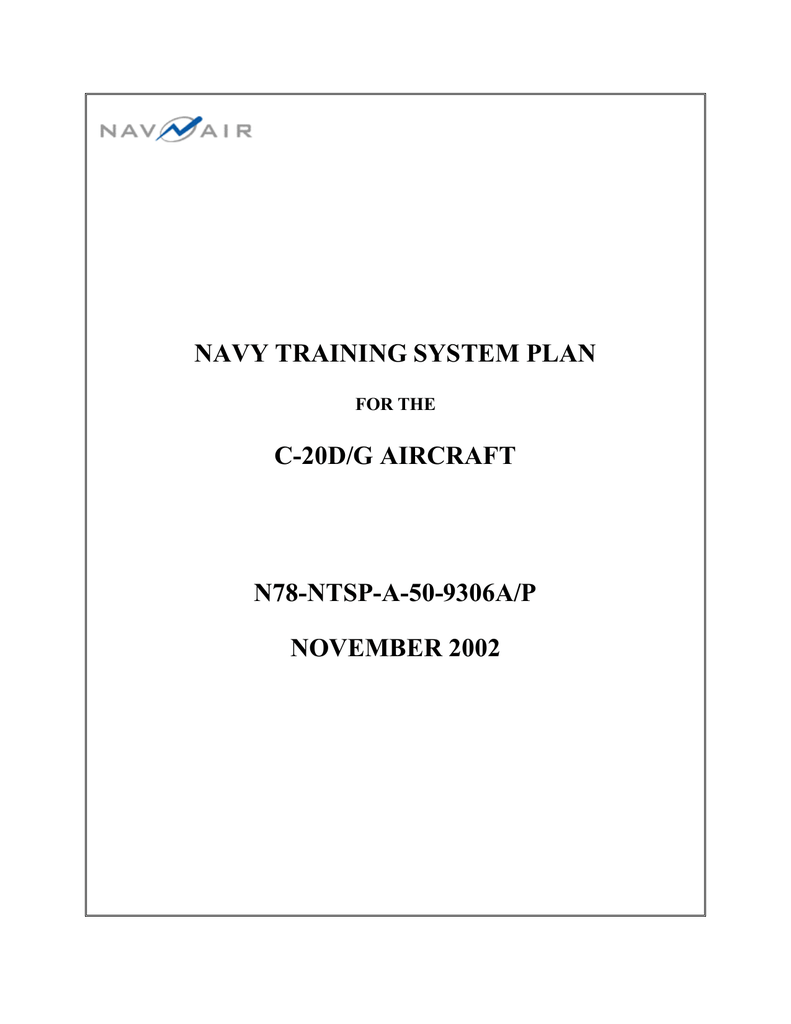 Navy Training System Plan C 20d G Aircraft N78 Ntsp A 50 9306a P 1987 Gulfstream Wiring Diagram